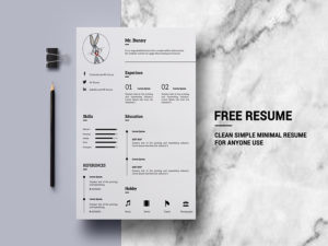 Simple Clean Minimal Resume