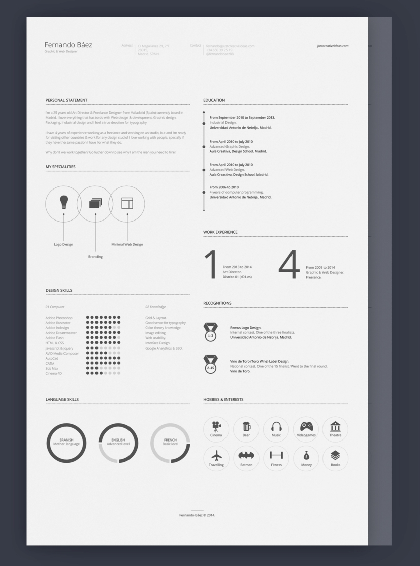 free resume template by fernando b?ez