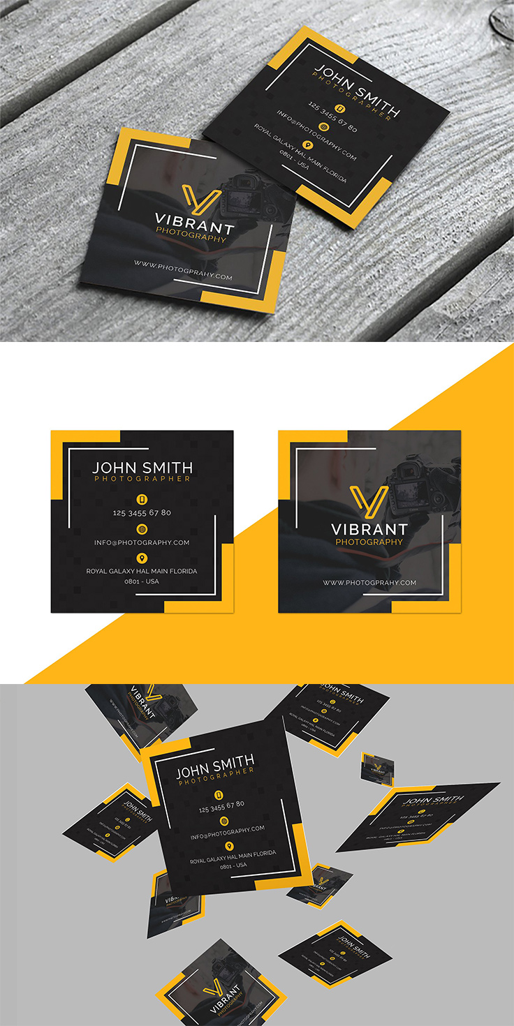 40 Photography Business Card Templates Inspiration - Design