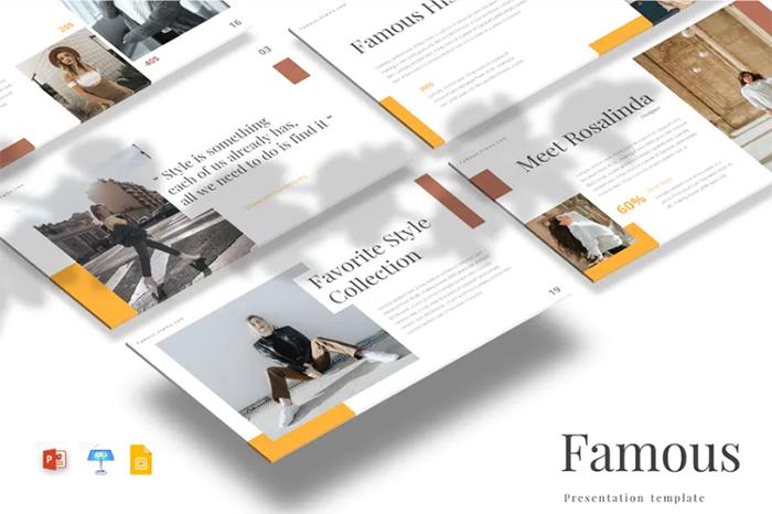 Famous - PowerPoint/Google Slides/Keynote Template - envato elements freebies
