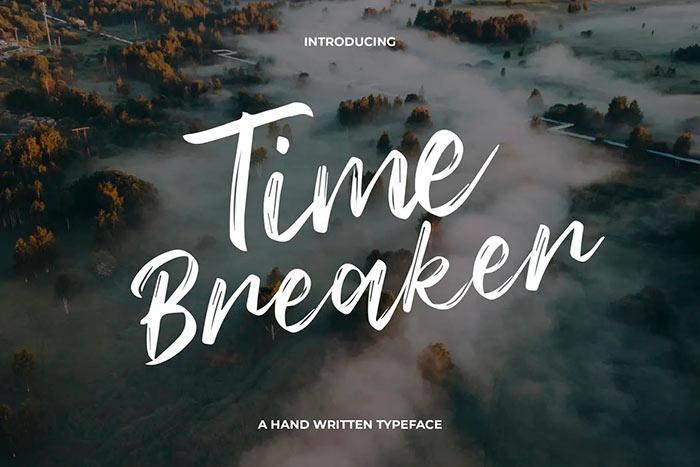 Time Breaker Typeface
