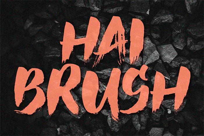 Hai Brush best brush stroke fonts