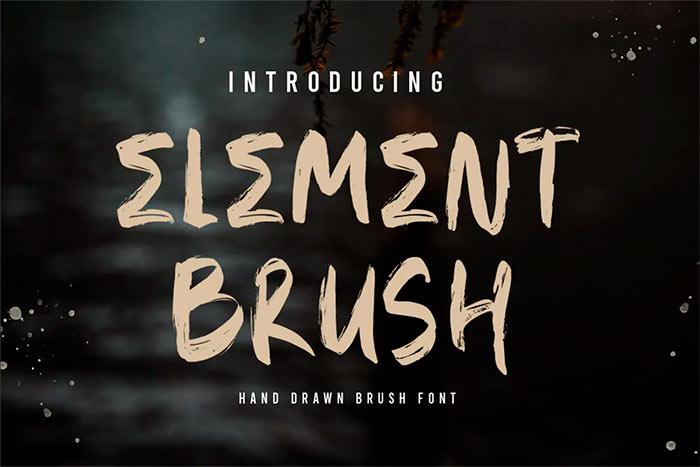 ELEMENT Brush Font