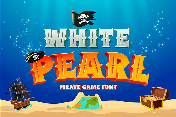 White Pearl - Gaming font