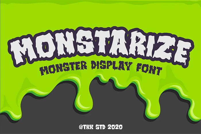 Monstarize - Horror Spooky Gaming Font