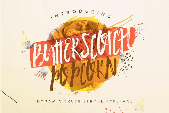 Butterscotch Popcorn best brush stroke fonts