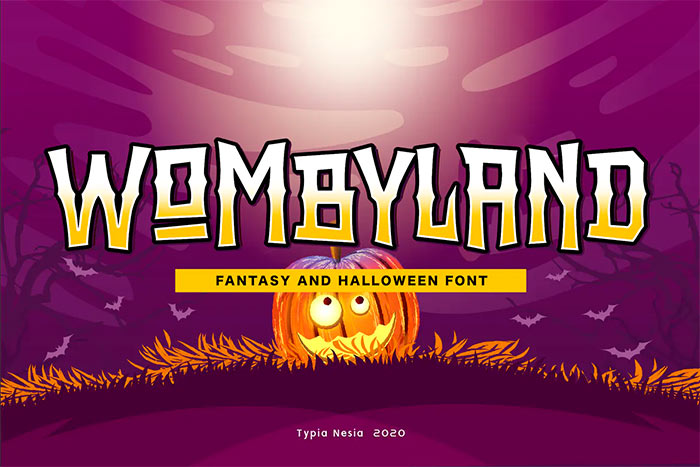 Wombyland - Fantasy Game Font