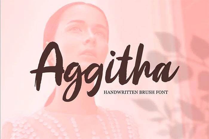 Aggitha best brush stroke fonts