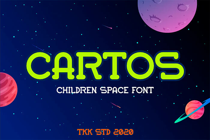 Cartos - Modern Kids Gaming Font