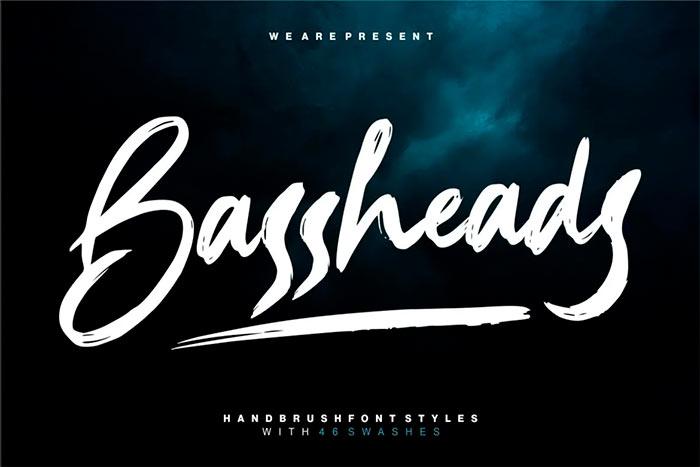 Bassheads best brush stroke fonts