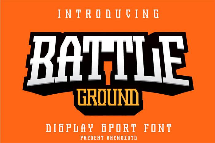 Battleground - Display Sport Font