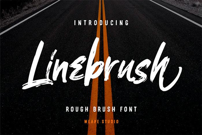 Linebrush - Rough Brush Font