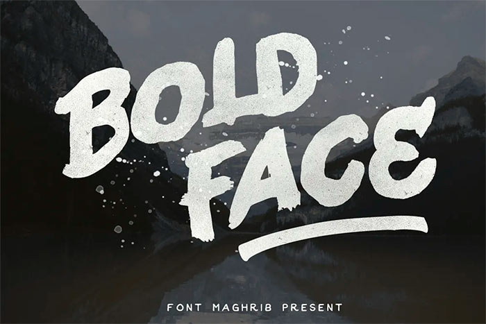 Bold Face best brush stroke fonts