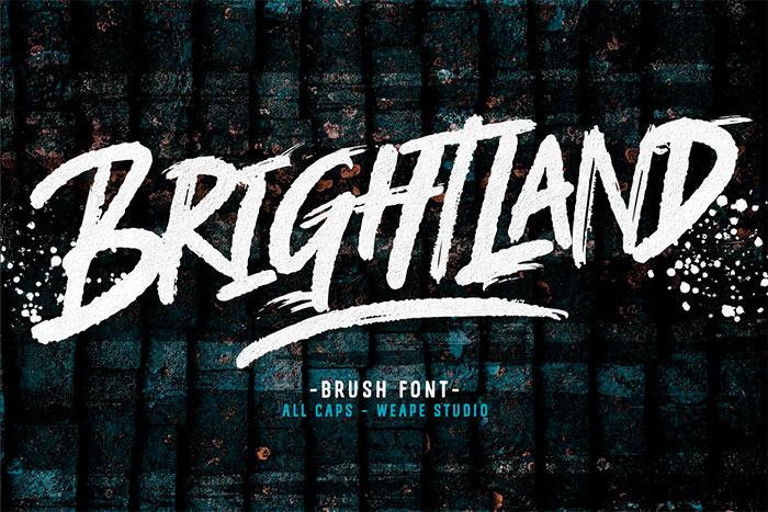 Brightland Brush Font
