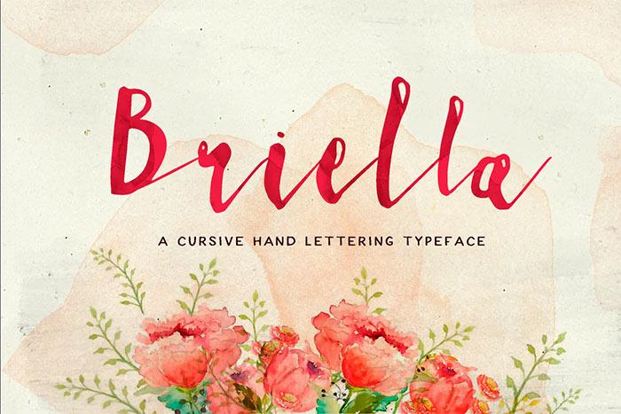 Briella best brush stroke fonts