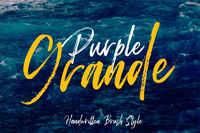 Purple Grande Brush Font