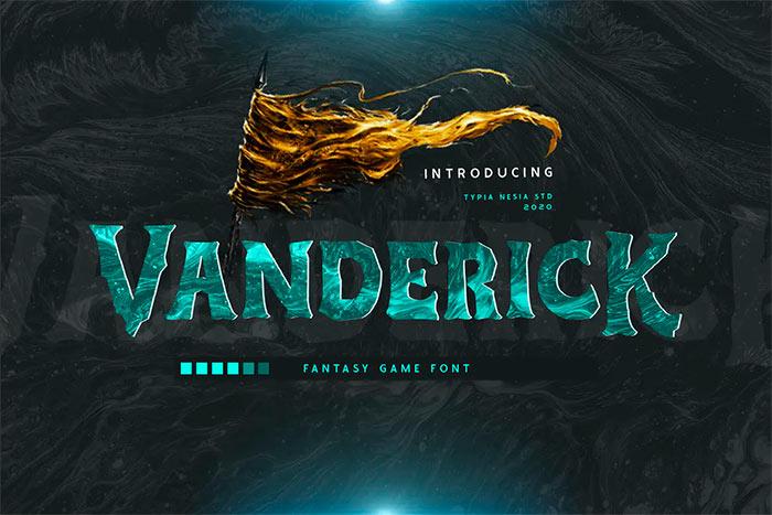 Vanderick Fantasy Game Font