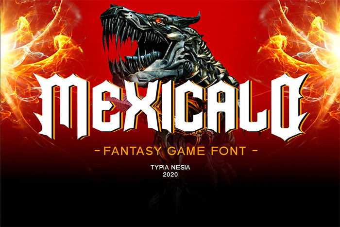 Mexicalo - Game Font