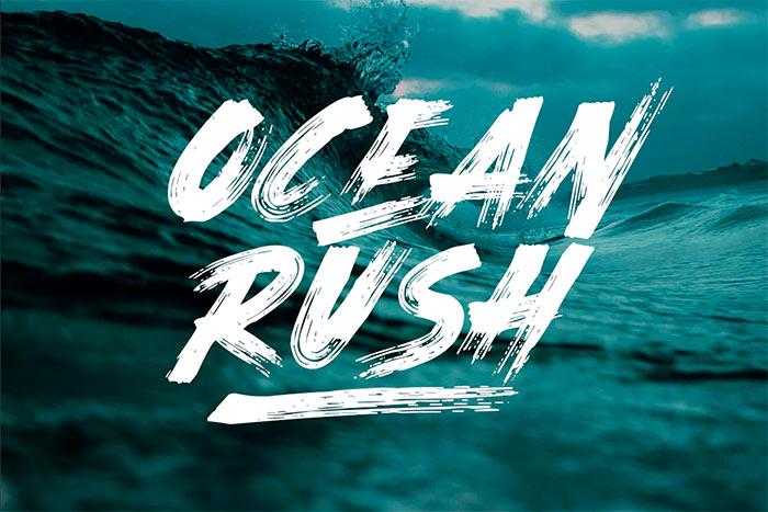 Ocean Rush - Brush Font